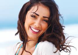 Beautiful woman smiles for the camera