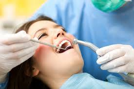 Child receiving dental care